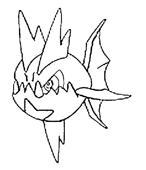 coloriage pokemon Carvanha