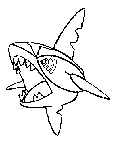 coloriage pokemon Sharpedo