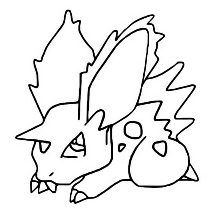 coloriage pokemon Nidoran♂