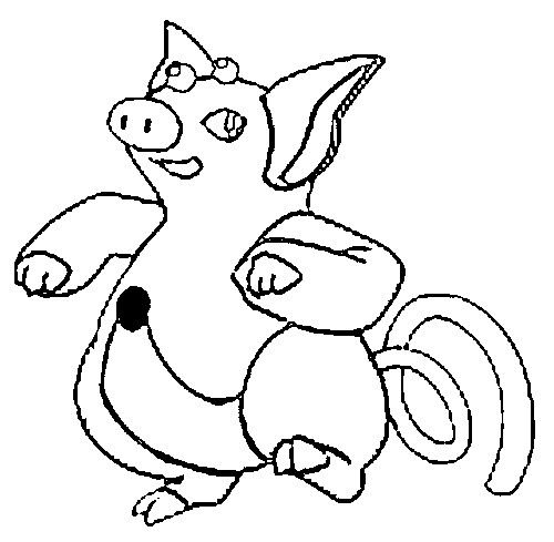 coloriage pokemon Groret