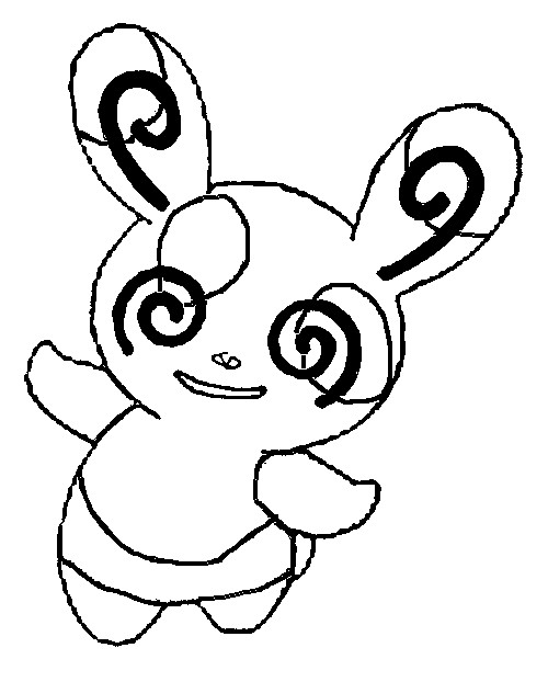 coloriage pokemon Spinda
