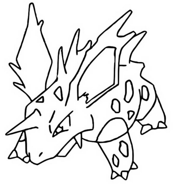 coloriage pokemon Nidorino