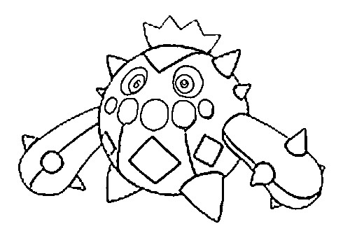 coloriage pokemon Cacnea