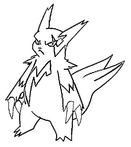 coloriage pokemon Mangriff