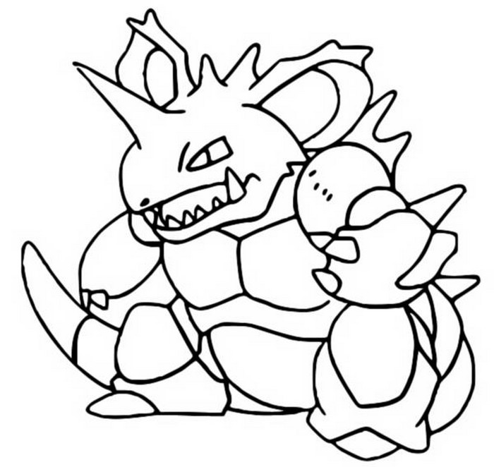 coloriage pokemon Nidoking