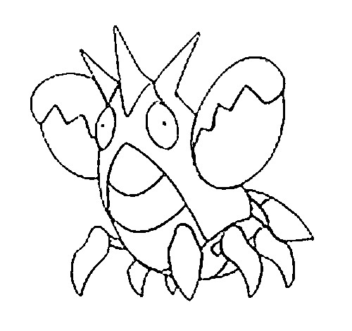 coloriage pokemon Écrapince