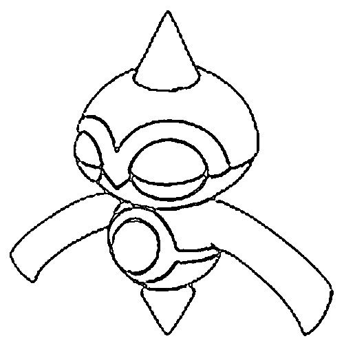 coloriage pokemon Balbuto