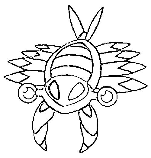 coloriage pokemon Anorith