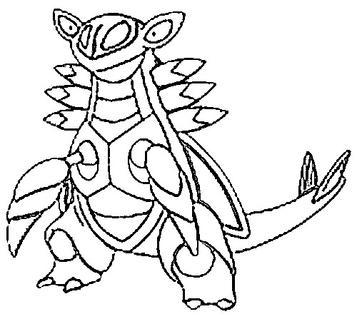 coloriage pokemon Armaldo
