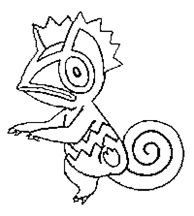 coloriage pokemon Kecleon