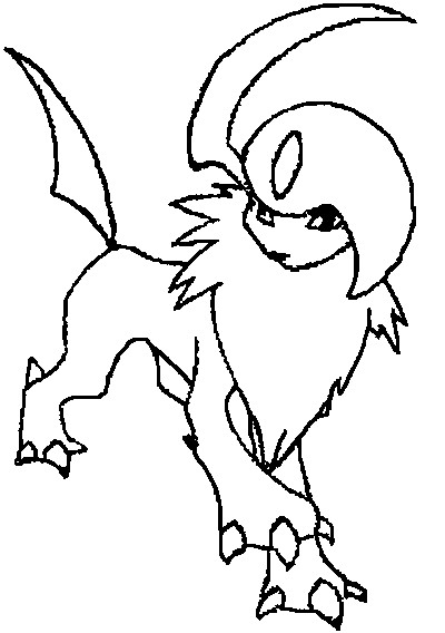 coloriage pokemon Absol