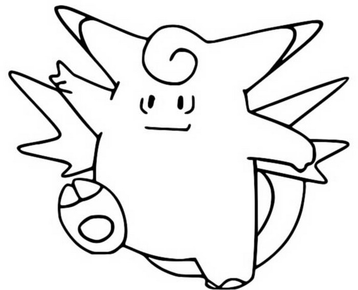 coloriage pokemon Mélodelfe