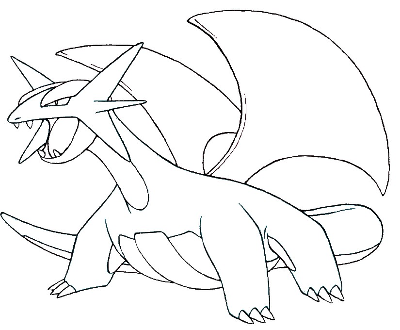 coloriage pokemon Drattak