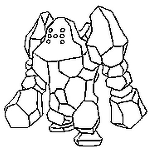 coloriage pokemon Regirock