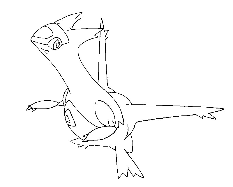 coloriage pokemon Latias