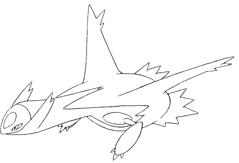coloriage pokemon Latios