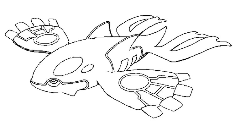 coloriage pokemon Kyogre