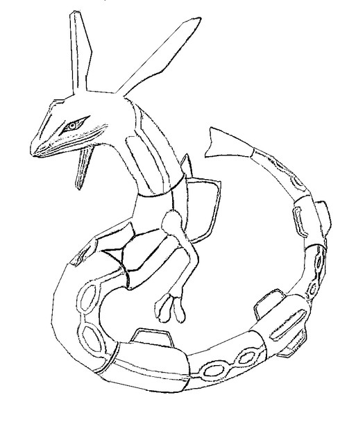 coloriage pokemon Rayquaza