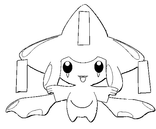 coloriage pokemon Jirachi