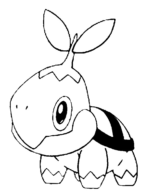coloriage pokemon Tortipouss