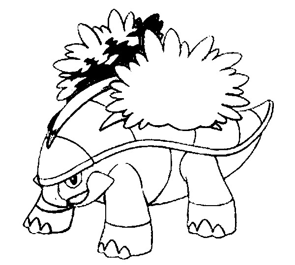 coloriage pokemon Boskara