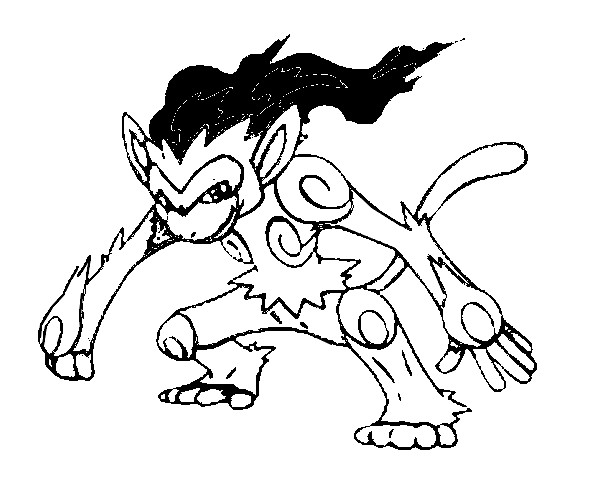 coloriage pokemon Simiabraz