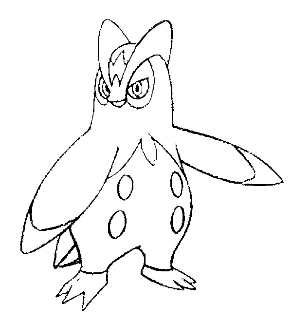 coloriage pokemon Prinplouf