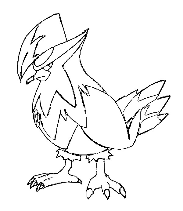 coloriage pokemon Étouraptor