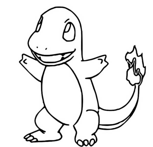 coloriage pokemon Salamèche