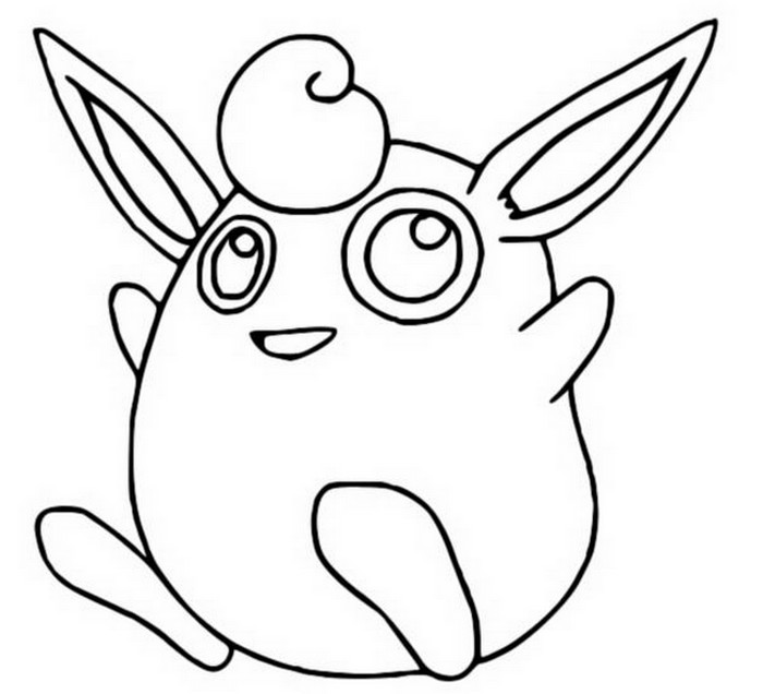 coloriage pokemon Grodoudou