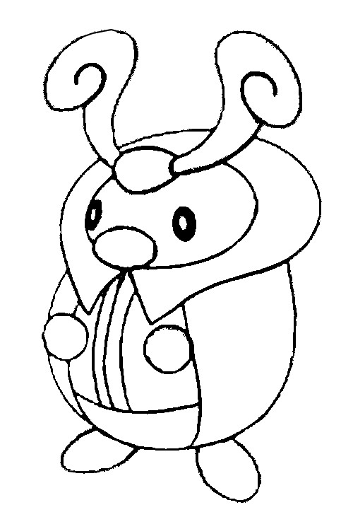 coloriage pokemon Crikzik