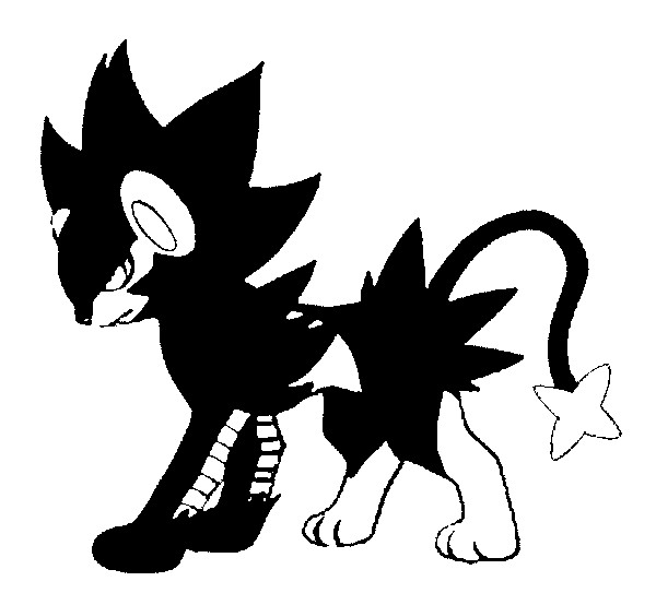 coloriage pokemon Luxray