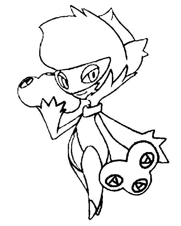 coloriage pokemon Roserade