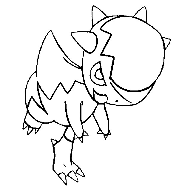coloriage pokemon Kranidos