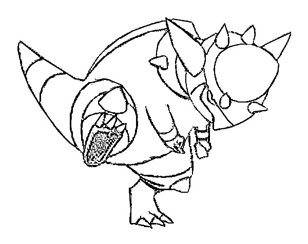 coloriage pokemon Charkos