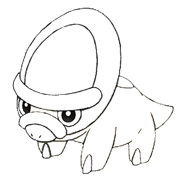 coloriage pokemon Dinoclier