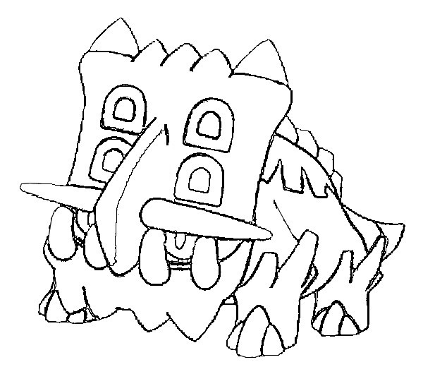 coloriage pokemon Bastiodon