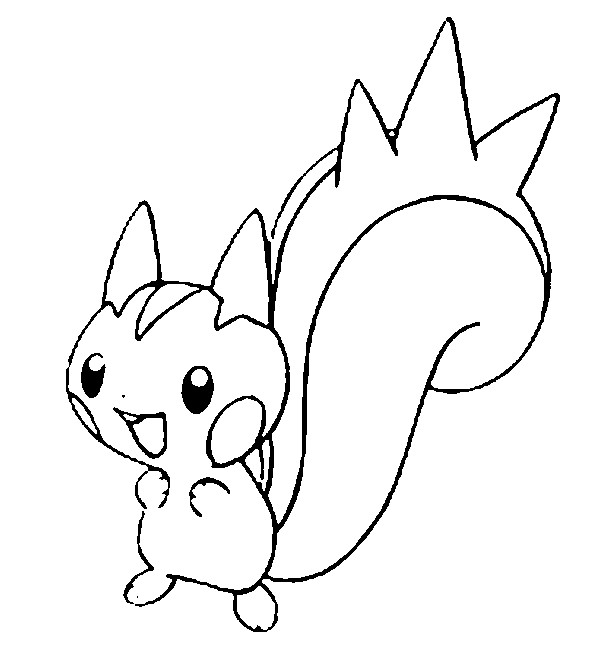 coloriage pokemon Pachirisu