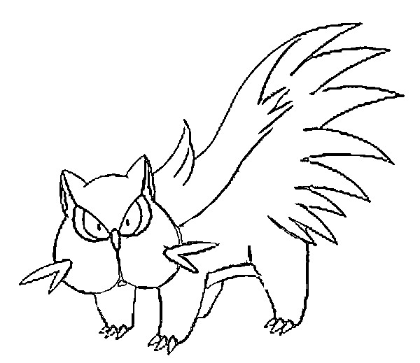 coloriage pokemon Moufouette