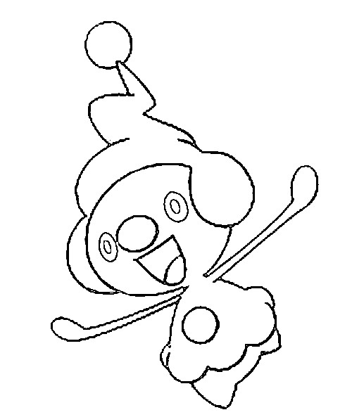 coloriage pokemon Mime Jr.