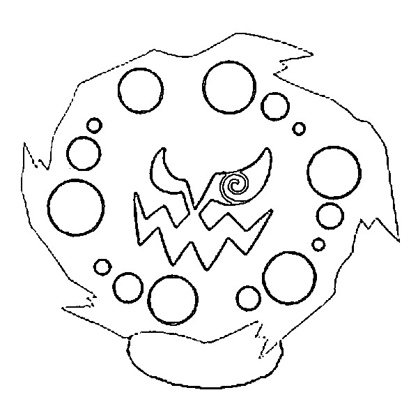 coloriage pokemon Spiritomb