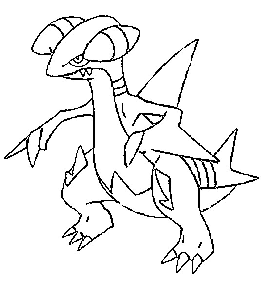 coloriage pokemon Carmache
