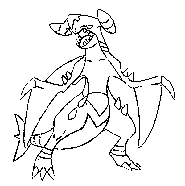 coloriage pokemon Carchacrok