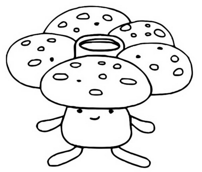 coloriage pokemon Rafflesia