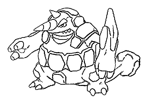 coloriage pokemon Rhinastoc
