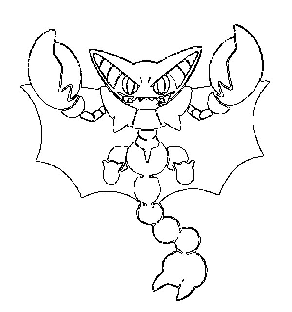 coloriage pokemon Scorvol