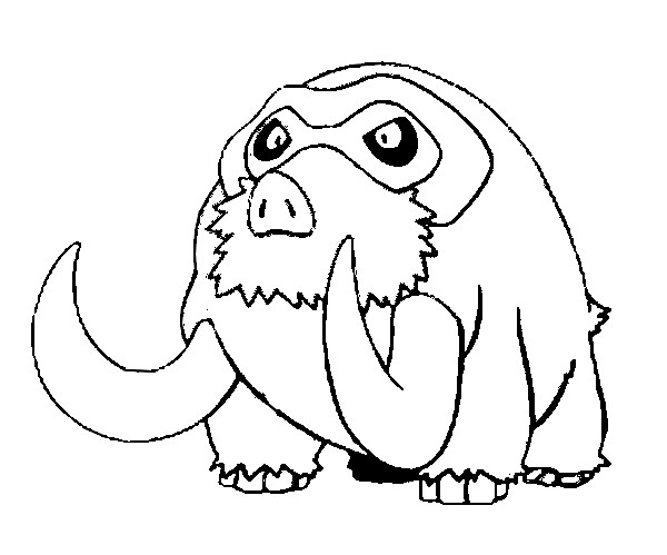coloriage pokemon Mammochon