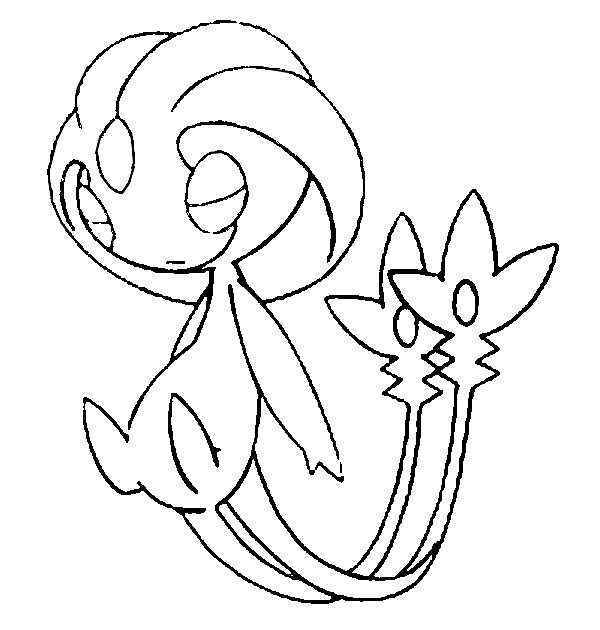 coloriage pokemon Créhelf