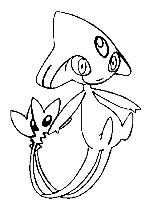 coloriage pokemon Créfadet