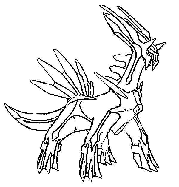 coloriage pokemon Dialga